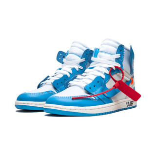 Air Jordan 1 x Off-White联名 AJ1 北卡蓝 UNC 男鞋 AQ0818-148 (44)