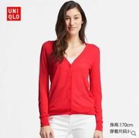 UNIQLO 优衣库 413634 女装薄型V领针织开衫