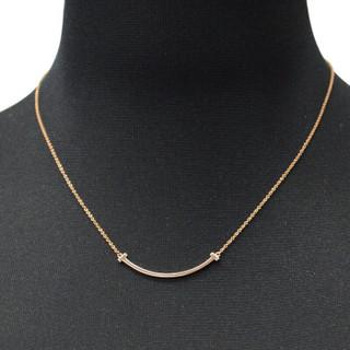 Tiffany&Co. 蒂芙尼  T系列 35189432 18K玫瑰金笑脸项链