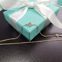 Tiffany&Co. 蒂芙尼 18K金/玫瑰金T形手链手环 18K玫瑰金双链 62355417