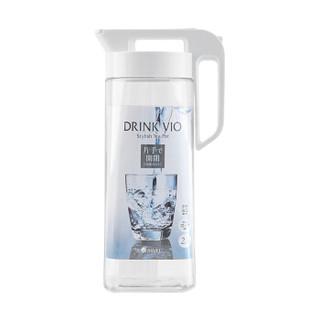 阿司倍鹭(ASVEL)密封塑料杯耐热耐高温冷水壶 可冰箱冷冻家用凉水壶扎壶 透明白色2.1L+凑单品 *2件