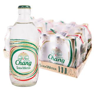CHANG泰国进口大象无糖苏打水气泡水汽水325ml*24瓶整箱碳酸饮料