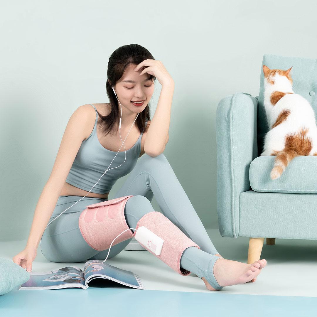 小米有品 乐范腿部气压按摩器 (粉色、腿部)