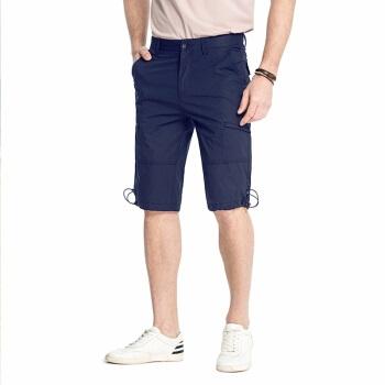 CAMEL 骆驼 男装 休闲直筒纯色运动短裤棉 五分裤子 SV8412059