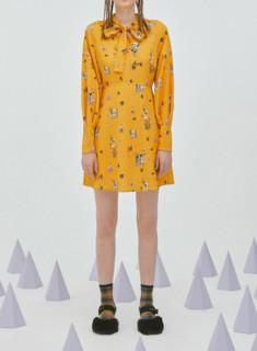 Lily 118340C7217 女装收腰印花连衣裙