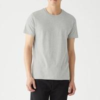MUJI 无印良品 69SA210 男士圆领短袖T恤 2件装
