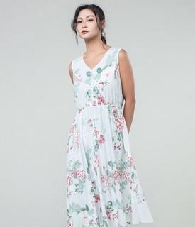 贴心 女士莫代尔棉薄款睡裙连衣裙
