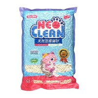 NEO猫砂 除臭豆腐猫砂无尘团结可冲厕所 非水晶松木膨润土沙 天净原味6L(2.5kg) *10件