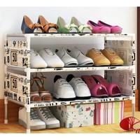 鞋架简易多层家用防尘经济型组装宿舍小鞋架子省空间门口鞋柜收纳