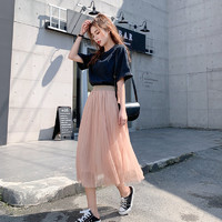 紫篇 ZP2019 女士网纱半身裙