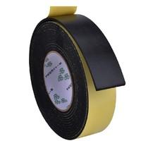 EVA单面黑色泡棉胶带 强粘强力重物缓冲防震海绵胶 防撞减震密封条汽车隔音防滑单面泡沫胶带 0.5-1-2-3mm厚