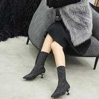 DK Sheepskin UGG DK328 女士保暖袜靴