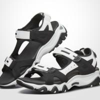 SKECHERS 斯凯奇 32999-BKW 女子休闲凉鞋