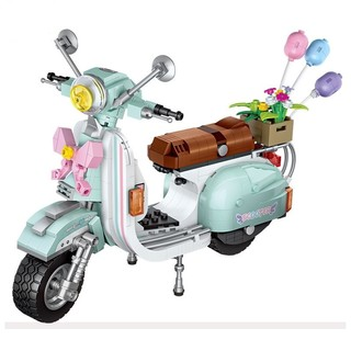 移动专享 : LOZ 小颗粒积木 小绵羊摩托车