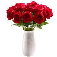 苏锦巧帛 仿真法式玫瑰花