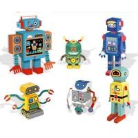 WeVeel 儿童手工折纸 6个机器人