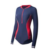 SPEEDO 速比涛 三角泳衣 (深蓝色/红色、34)