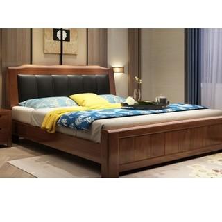 mufanhome 木帆家居 框架单床 1.5米胡桃色