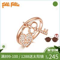 FolliFollie芙丽芙丽锁扣钥匙造型个性时尚造型戒指