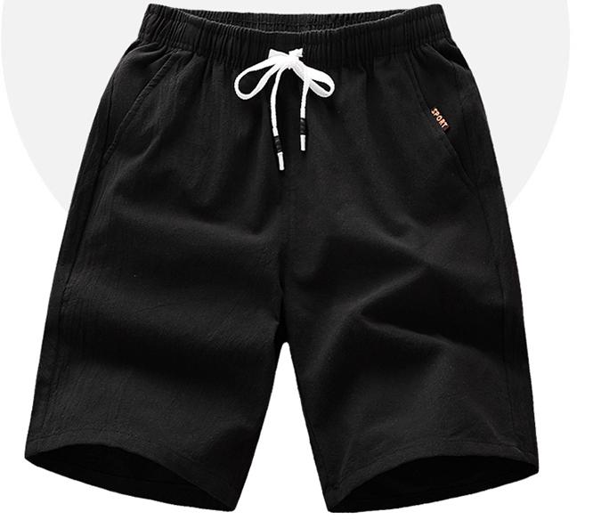 YUZHAOLIN 俞兆林 休闲短裤男士时尚潮流简约纯色五分短裤 YF555
