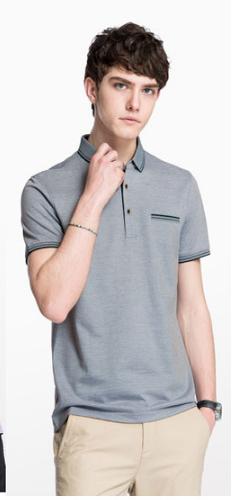 CAMEL 骆驼 男装 男青年翻领纯色休闲POLO衫绣标短袖上衣  X8B265057