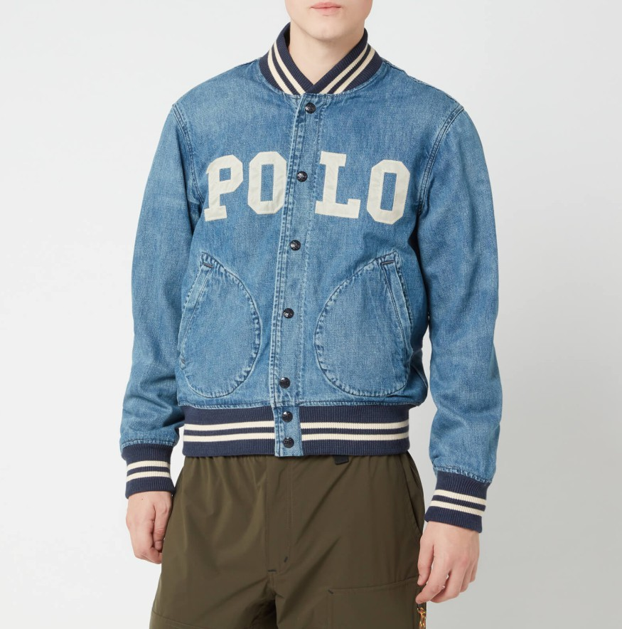 Polo Ralph Lauren 拉夫·劳伦 Varsity Denim 男款牛仔夹克