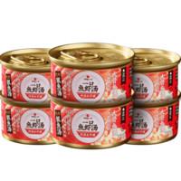 万物一口 湿粮猫罐头 (6罐、鱼虾汤、罐装)