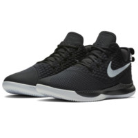 NIKE 耐克 LEBRON WITNESS 3  AO4433-001 篮球鞋 (黑白、42)
