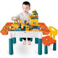 豆豆象 积木桌椅 37cm积木桌+椅子+128颗粒