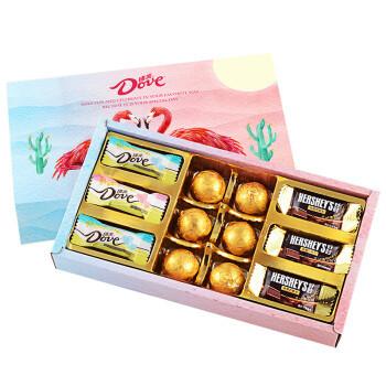 德芙巧克力礼盒装 牛奶夹心巧克力圣诞节送礼佳品 火烈鸟礼盒 *2件