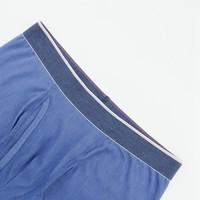 UNIQLO 优衣库 414998 男装 SUPIMA COTTON针织短裤(普通腰) (天蓝色、XL、棉67% 聚酯纤维27% 聚氨酯弹性纤维(氨纶)6%)