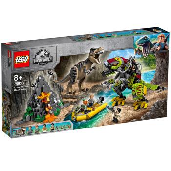 LEGO 乐高 Jurassic World侏罗纪世界系列 75938 霸王龙大战机甲恐龙