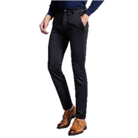 PLAYBOY 花花公子 男士纯色休闲弹力商务西裤直筒修身休闲裤 DH16160008