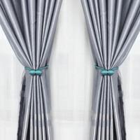 寻芳 现代简约窗帘绑带绑绳磁吸扣 一对装