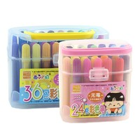 西瓜太郎 儿童美术绘画涂鸦水彩笔 24色/盒