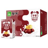 蒙牛早餐奶红枣味利乐包250ml×16盒 补充营养学生奶儿童奶饮品