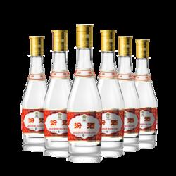 88vip:山西杏花村汾酒53度黄盖玻汾475ml*6瓶清香型国产白酒六瓶装