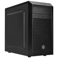 银欣(SilverStone)PS16 精准16 黑色 M-ATX机箱(支持120mm水冷/PS08进阶版/长显卡/标配12公分静音风扇)