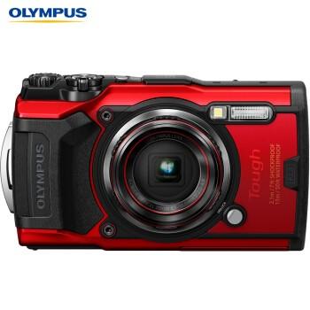 OLYMPUS 奥林巴斯 TG-6 多功能运动数码相机 (红色)