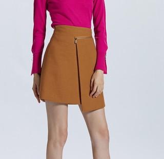 ochirly 欧时力 1GZ3071980 毛呢半身短裙