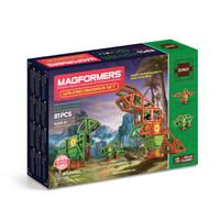 MAGFORMERS 麦格弗 磁力片 步行恐龙套组 81片装 +凑单品