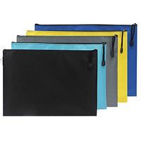 信奇 A4帆布拉链文件袋 5个装
