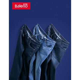Baleno 班尼路 男士直筒低腰拉链牛仔长裤88841029 02D 32