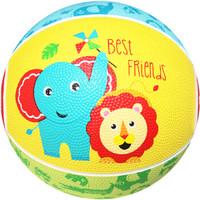 费雪(Fisher Price)儿童玩具球17cm趣味卡通拍拍球橡胶篮球宝宝充气皮球幼儿运动玩具F0515H11