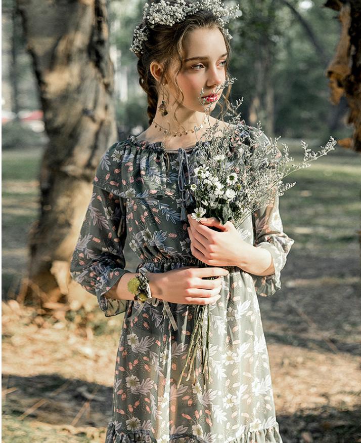 La·go·go 拉谷谷 女士雪纺连衣裙