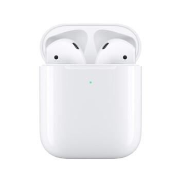 Apple 苹果 Airpods2 无线蓝牙耳机 (白色配无线充电盒、iOS、耳塞式)