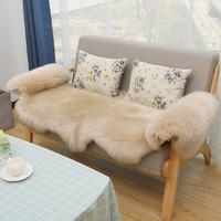 裘朴 羊毛沙发垫皮毛一体真皮沙发欧式羊毛沙发垫北欧ins风飘窗垫