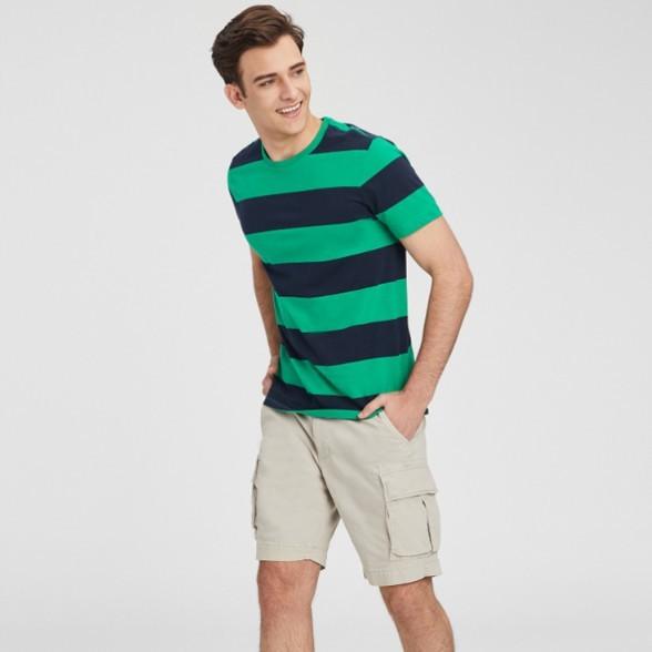 OLD NAVY 416496 男装|柔和水洗醒目条纹圆领短袖T恤