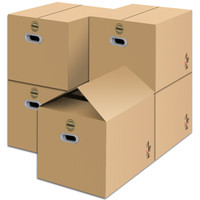 清野の木 搬家纸箱 有扣手 60*40*50cm 五个装 *2件