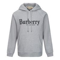 BURBERRY 博柏利 男士灰色混纺连帽套头衫 80071201
